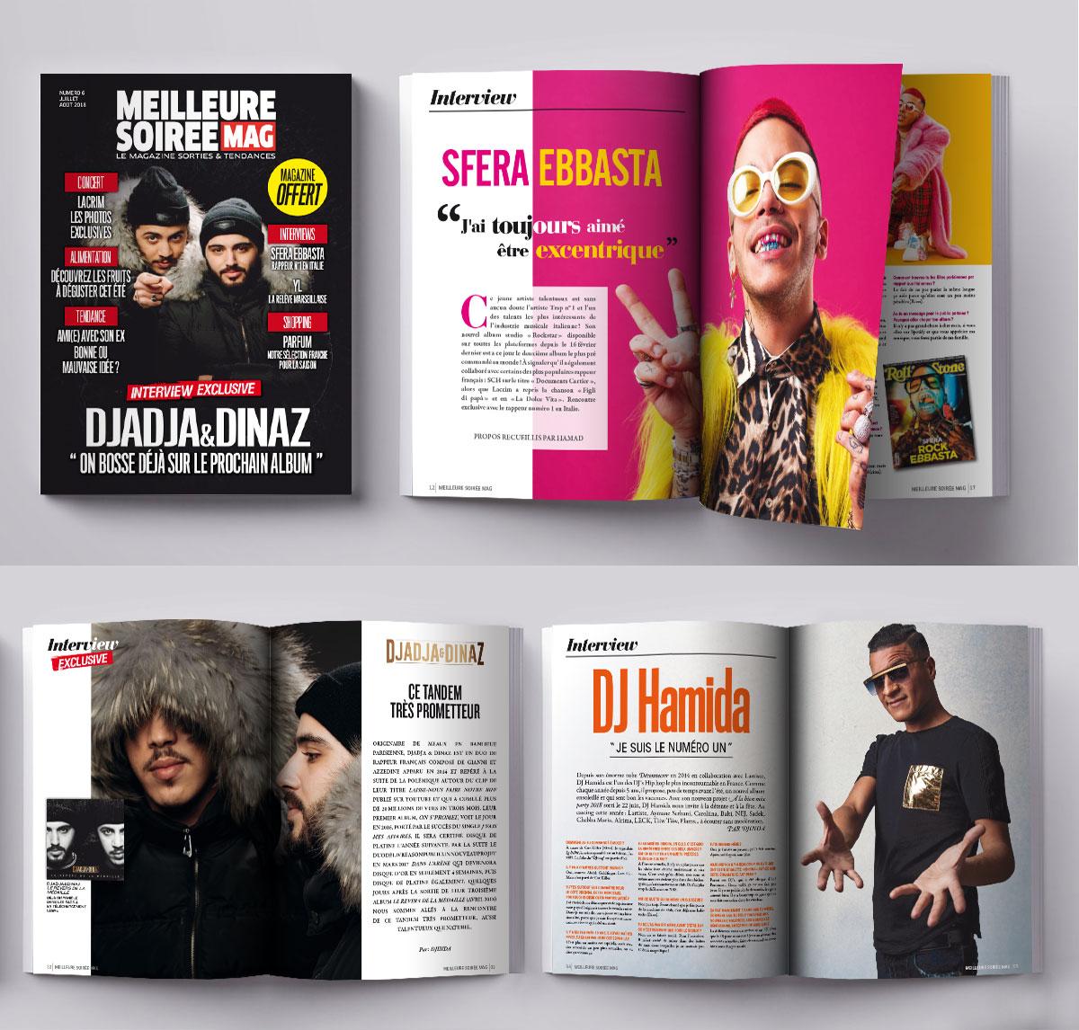 Infographiste indépendant, création et  mise en page de magazines sur le rap
