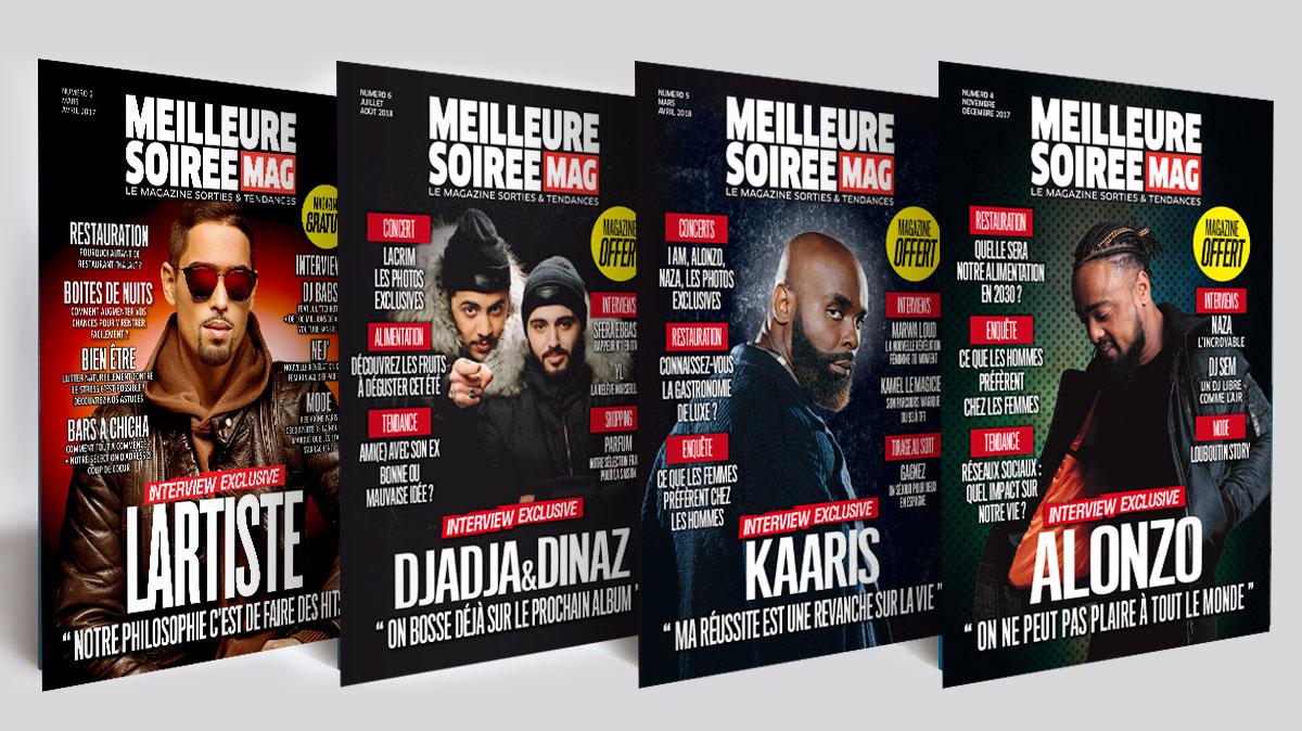 Infographiste indépendant, création et  mise en page de magazines sur les soirées musique rap