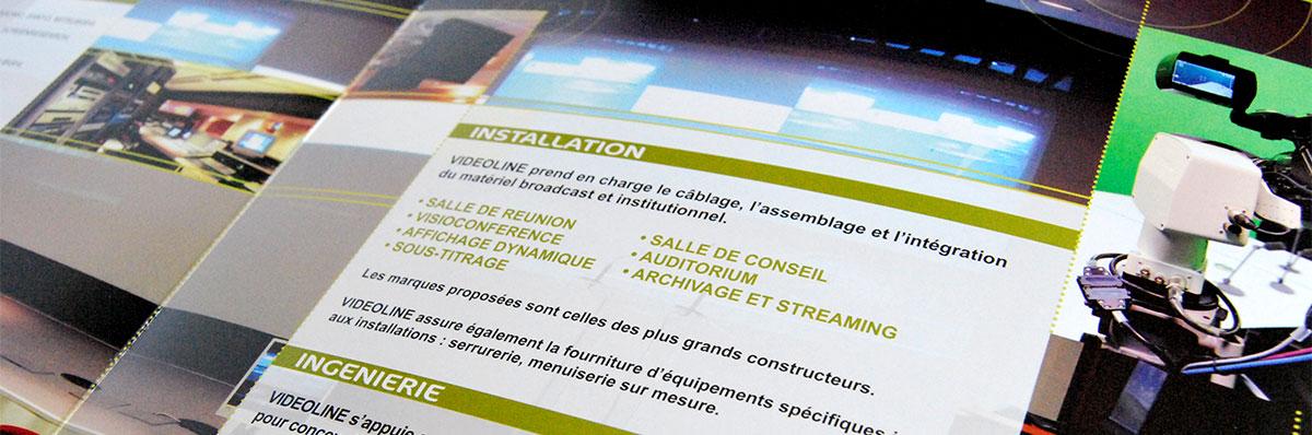 Infographiste indépendant, création et mise en page de plaquettes commerciales 3 volets dans le multimédia
