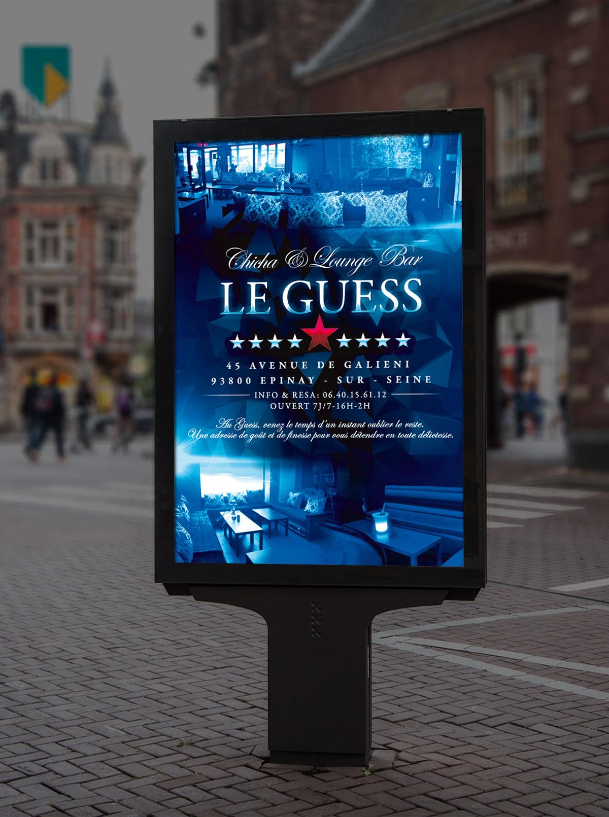 Infographiste Indépendant, création et mise en page de publicités bar lounge