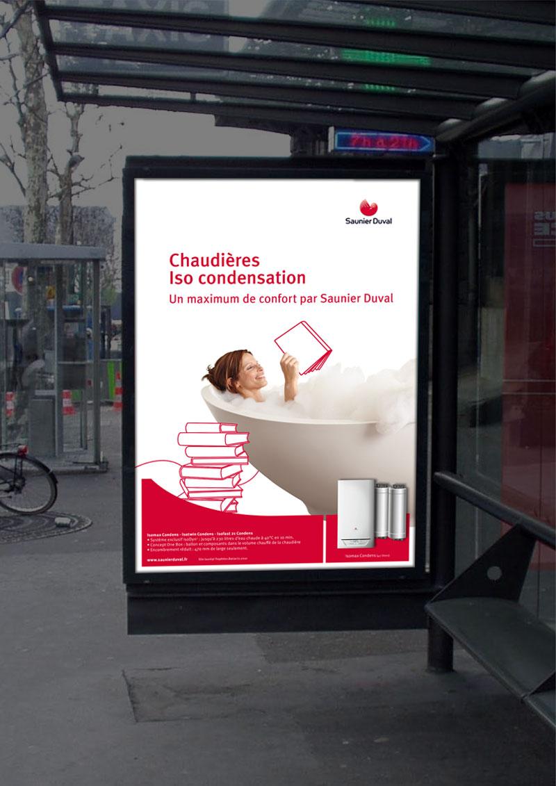 Infographiste Indépendant, création et mise en page de publicités chauffage