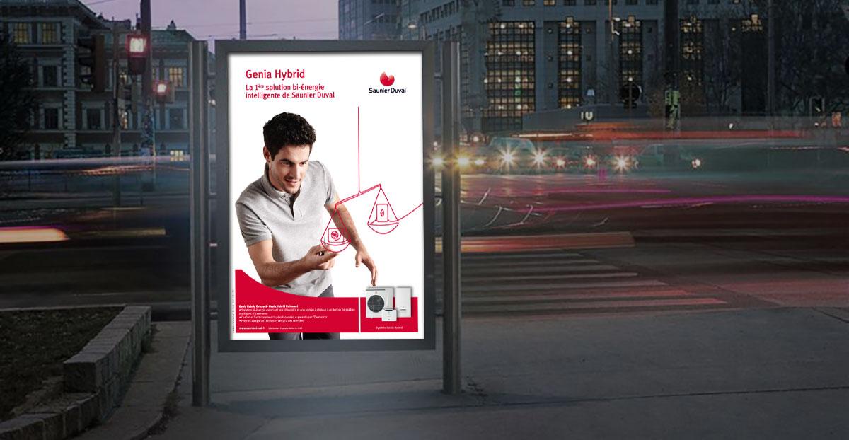 Infographiste Indépendant, création et mise en page de publicités entretien chaudière