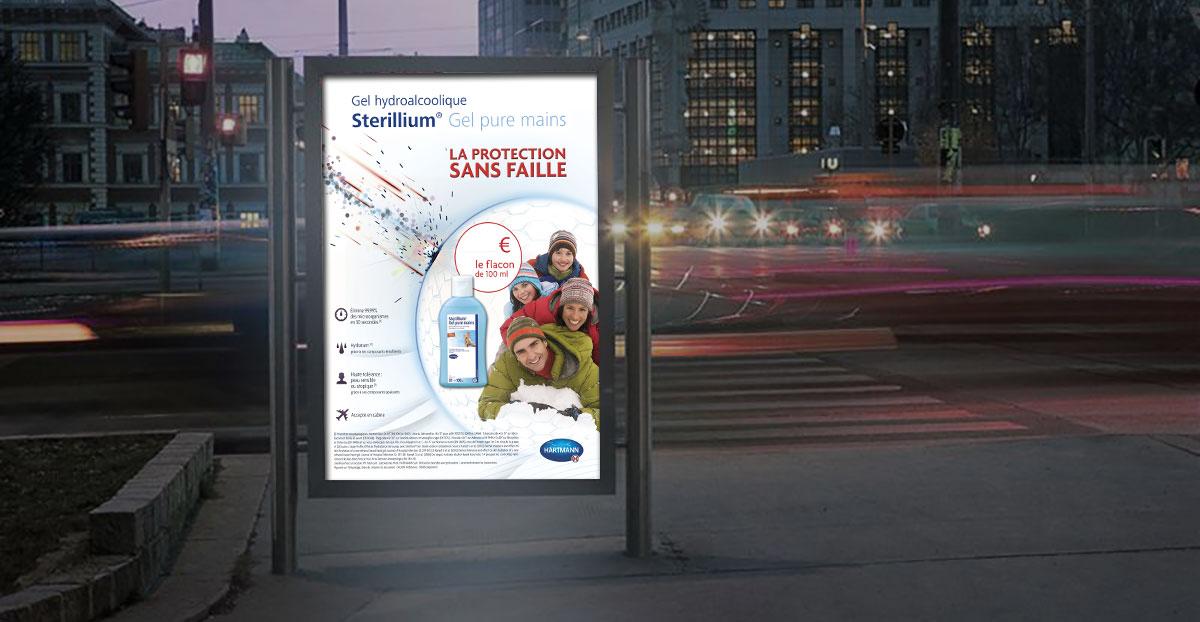 Infographiste Indépendant, création et mise en page de publicités produit d'hygiène