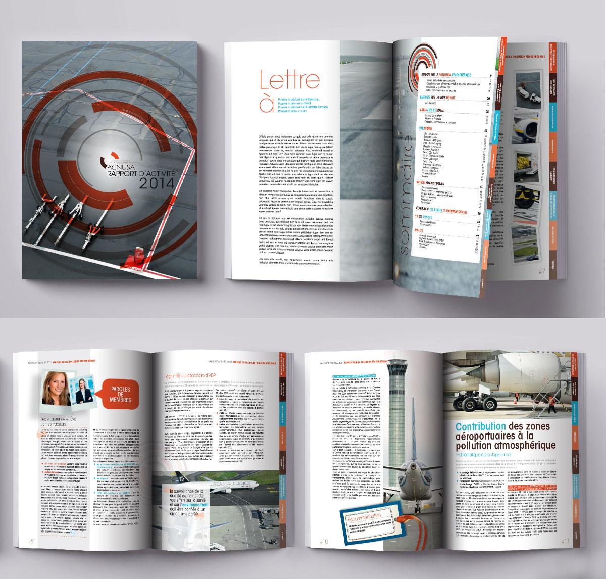 Infographiste indépendant, création et mise en page de rapports d'activité aéroport