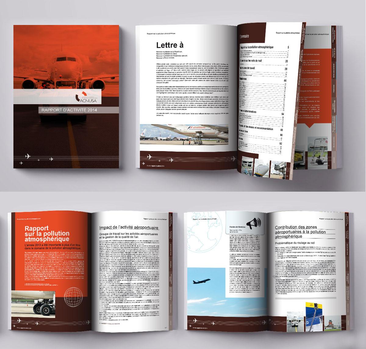 Infographiste indépendant, création et mise en page de rapports d'activité, aviation