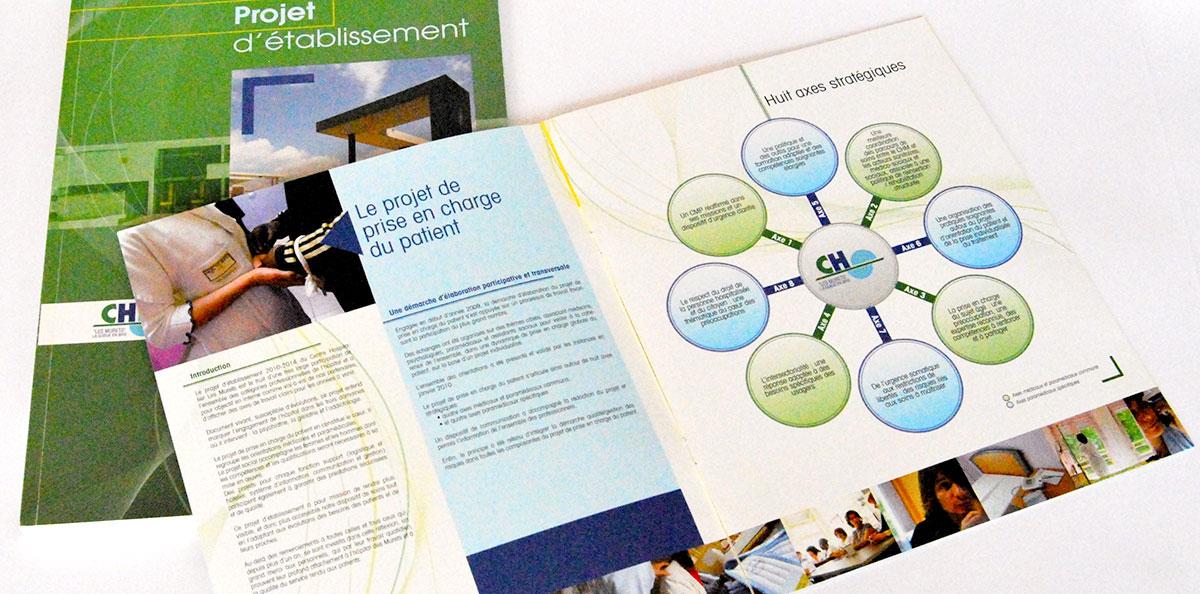 Infographiste indépendant, création et mise en page de rapports d'activité hospitalo-universitaire