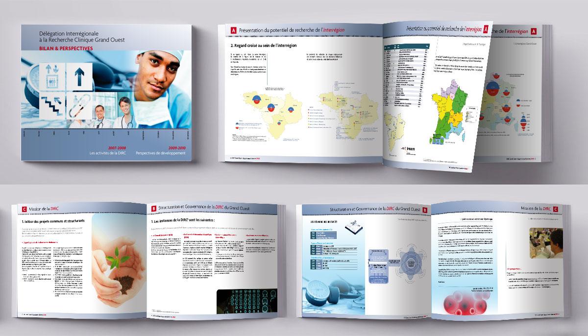 Infographiste indépendant, création et mise en page de rapports d'activité, interrégion