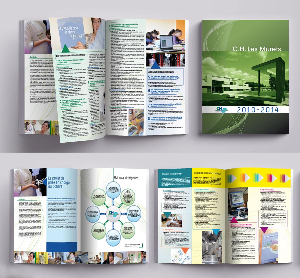 Infographiste indépendant, création et mise en page de rapports d'activité, projet d'établissement
