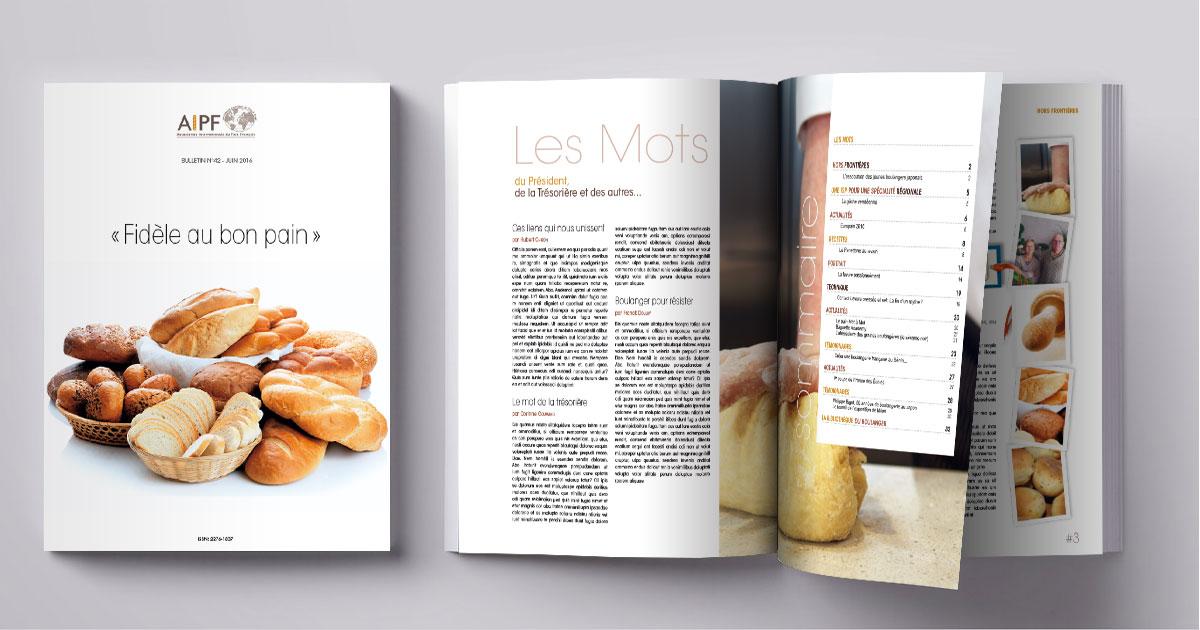Infographiste Indépendant, création et mise en page de revues sur la boulangerie