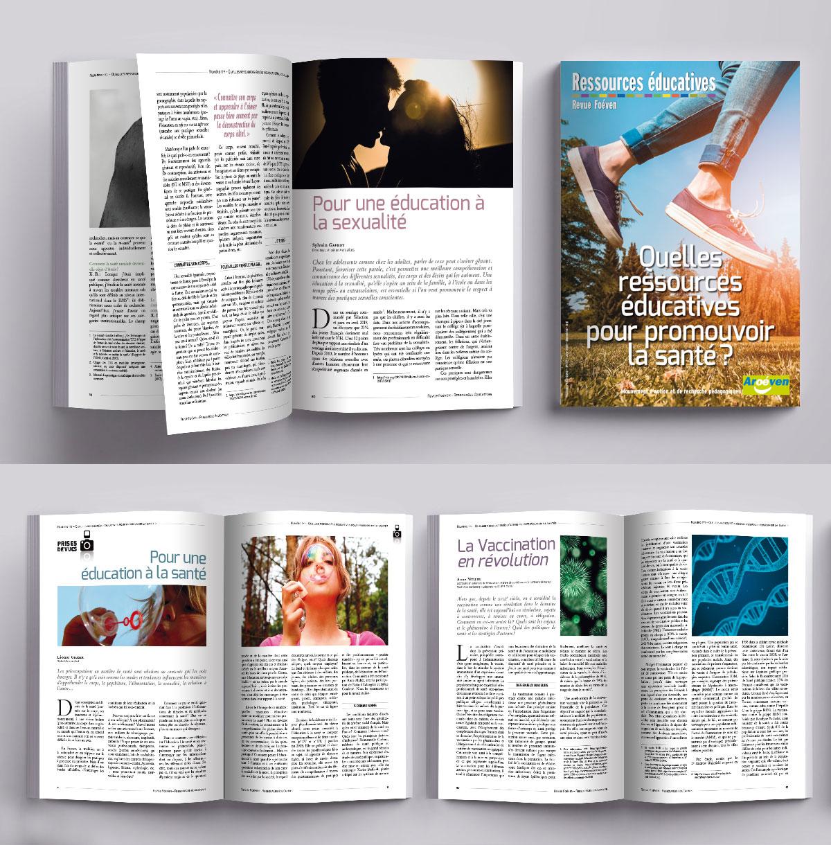 Infographiste Indépendant, création et mise en page de revues sur l'éducation et la santé