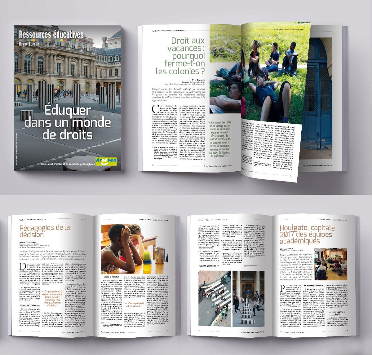 Infographiste Indépendant, création et mise en page de revues sur l'enseignement