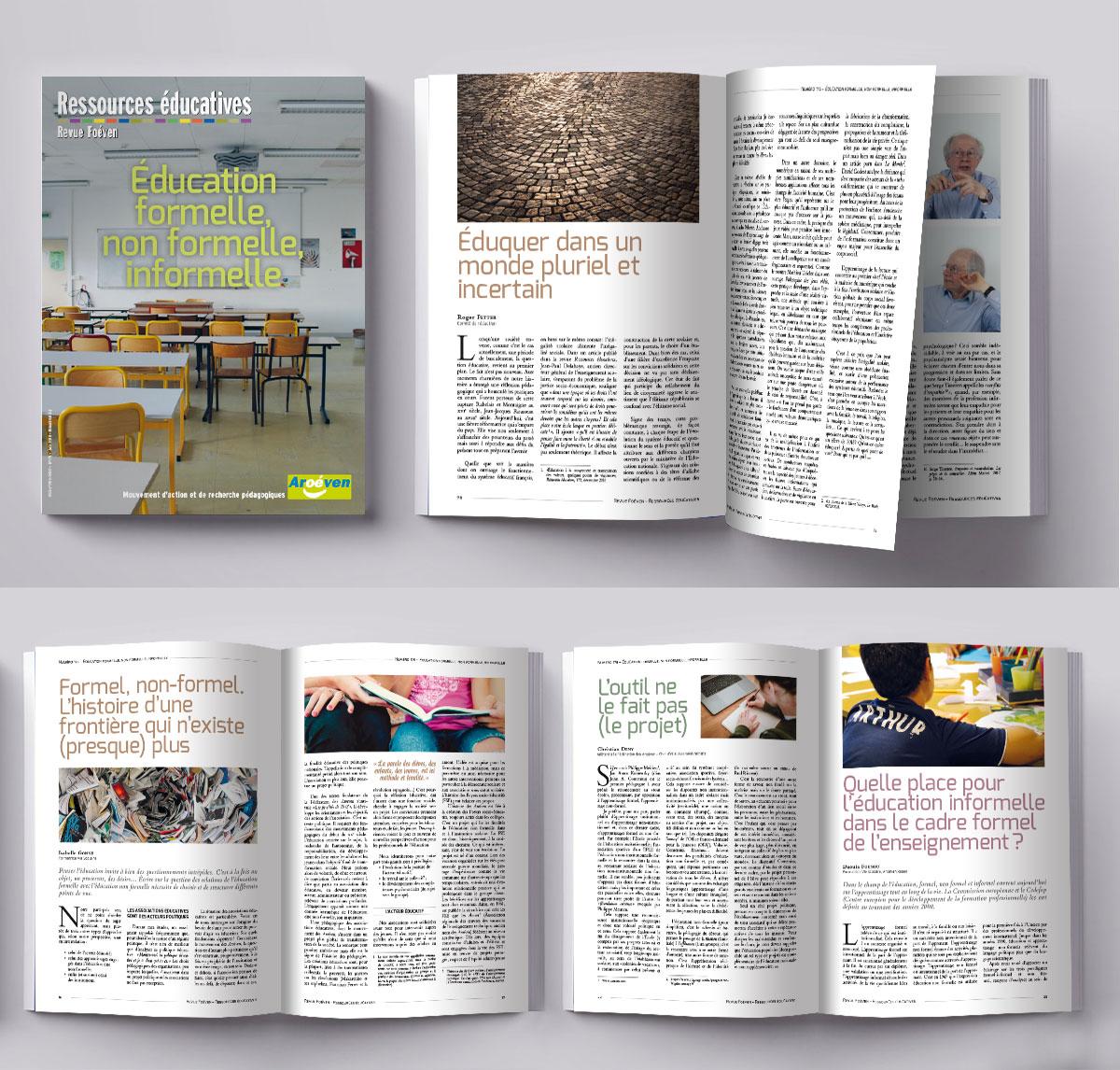 Infographiste Indépendant, création et mise en page de revues fournissant des ressources sur l'éducation