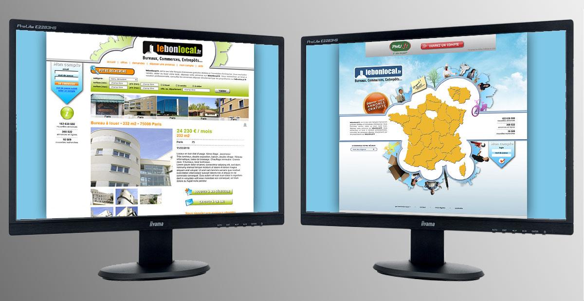Infographiste indépendant, création de site internet d'annonces