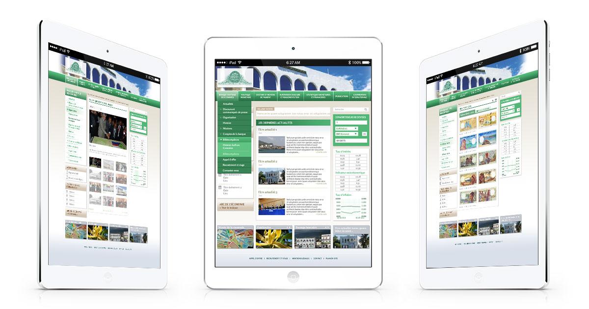Infographiste indépendant, création de site internet de banque