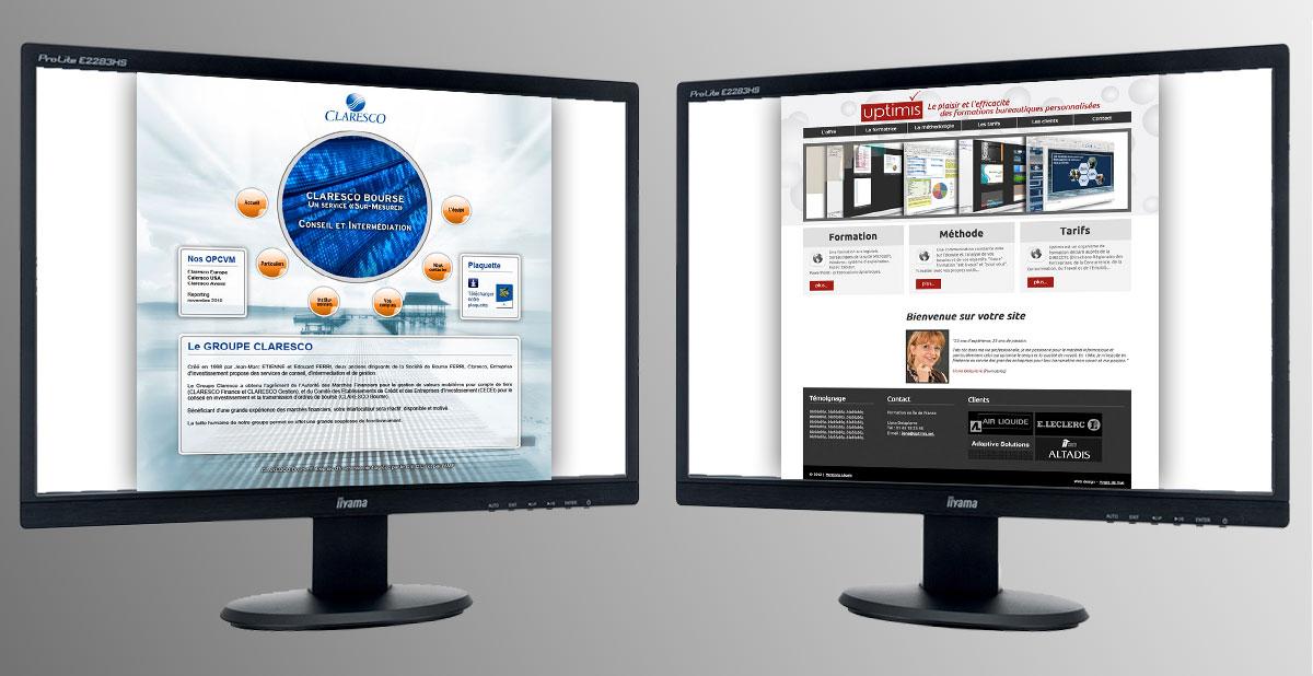 Infographiste indépendant, création de site internet formation et bourse