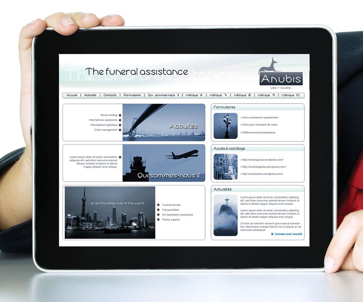 Infographiste indépendant, création de site internet funéraire
