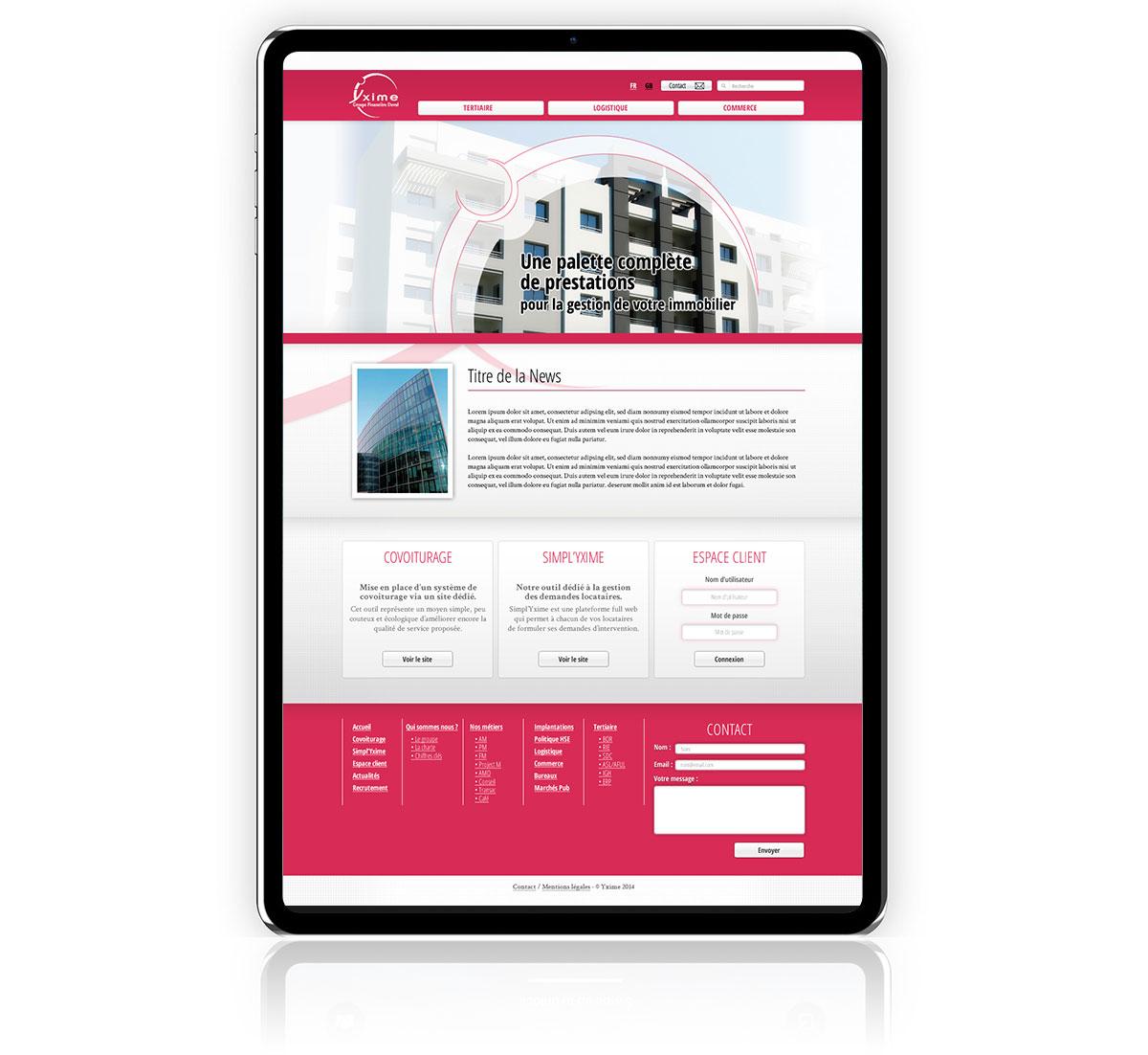 Infographiste indépendant, création de site internet immobilier