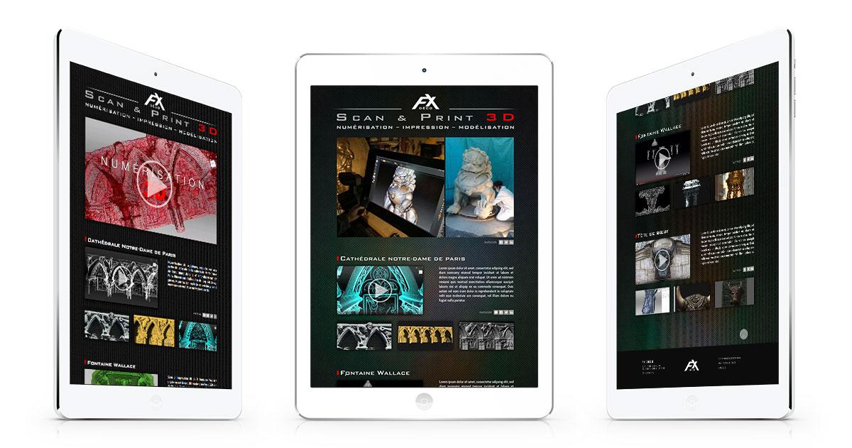 Infographiste indépendant, création de site internet impression 3D