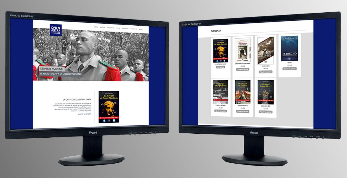 Infographiste indépendant, création de site internet de maison d'édition