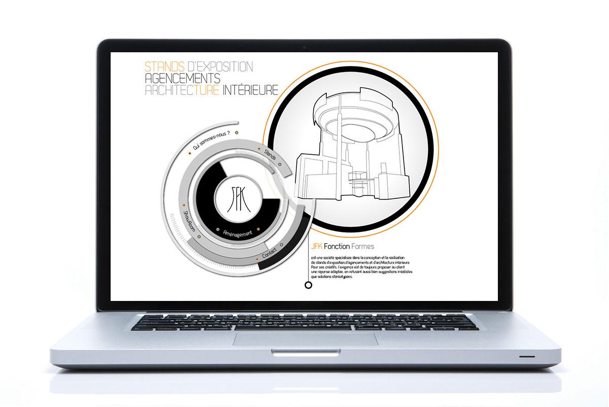 Infographiste indépendant, création de site internet pour stand d'exposition